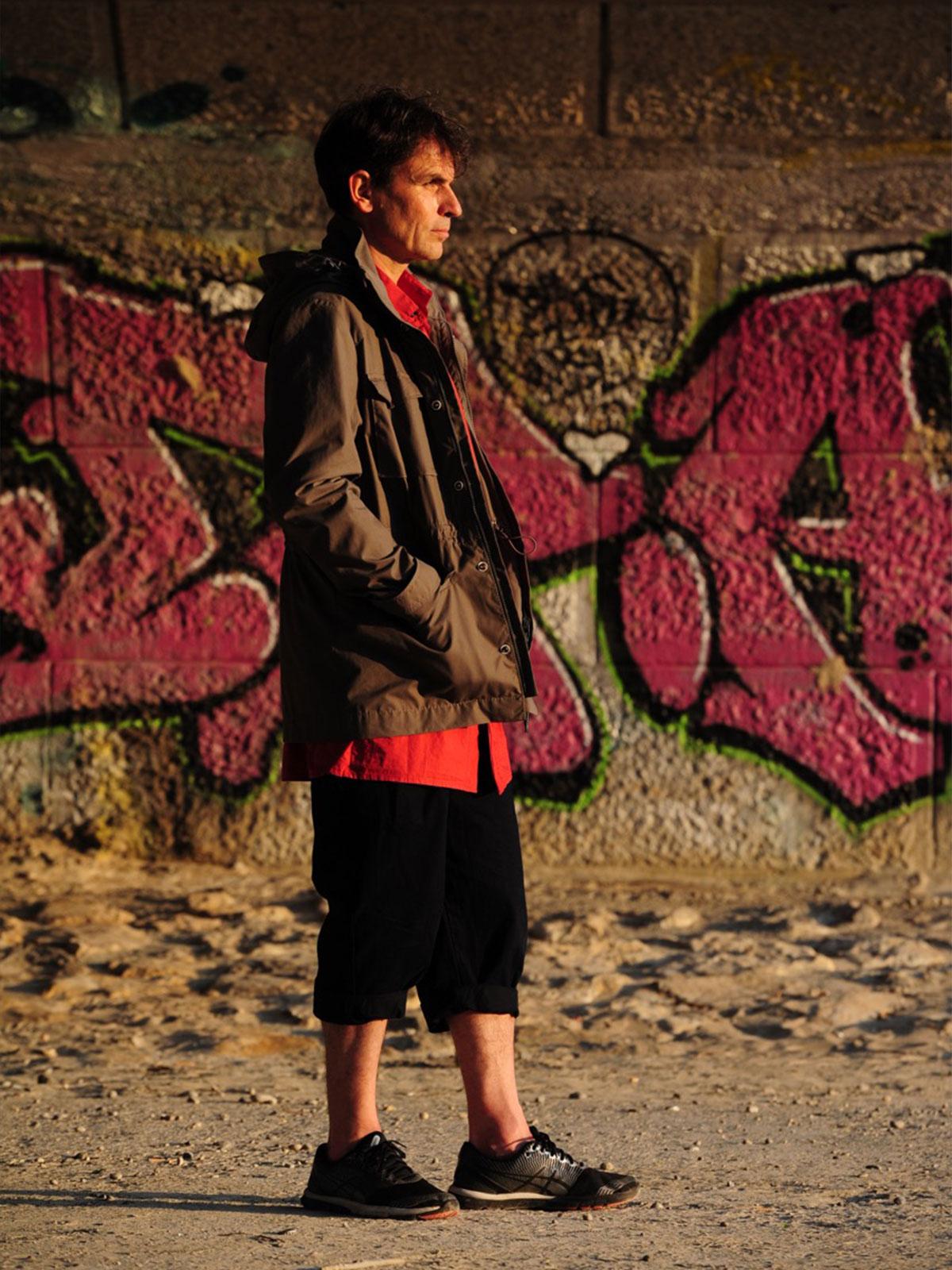 Clemens wearing the EtaProof Field Jacket