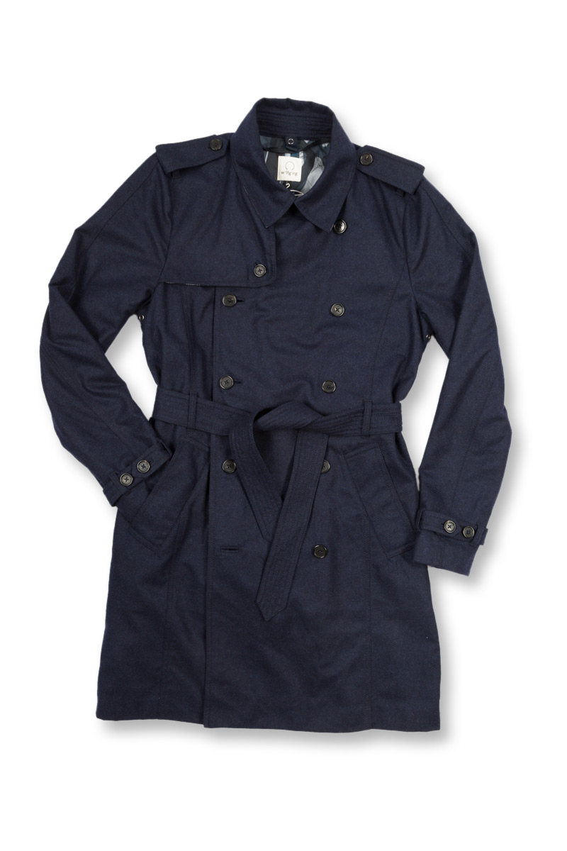 w'lfg'ng Wool Trench Coat front