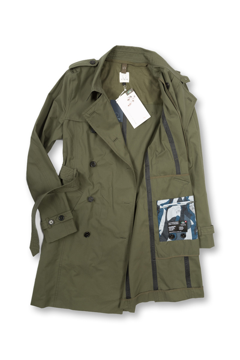 w'lfg'ng EtaProof Trench Coat open