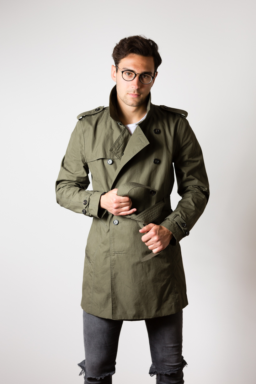 Manu sporting the EtaProof Trench