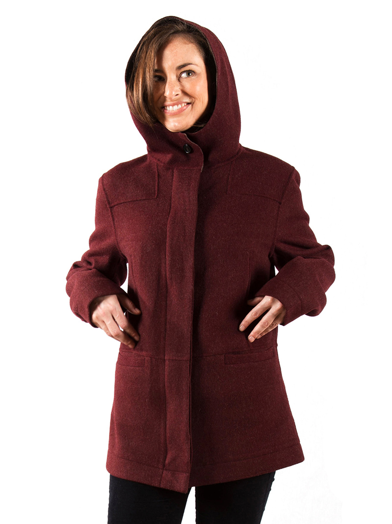 w'lfg'ng unlined double face laden wool coat