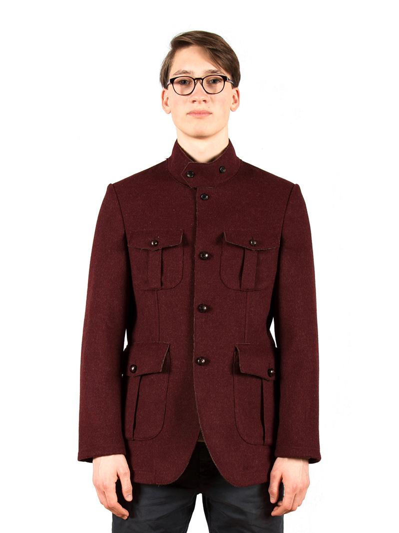 w'lfg'ng Bordeaux loden steiner wool coat